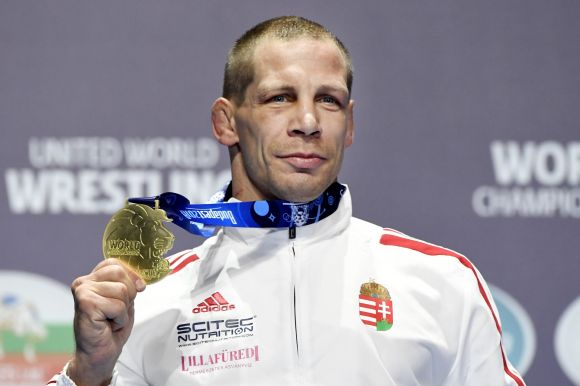 Bácsi Péter aranyérmet nyert a budapesti birkózó-vb-n