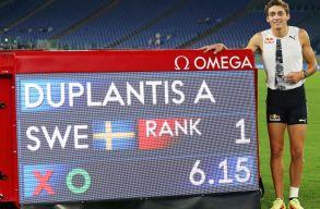 A svédek csodaugrója megdöntötte Szerhij Bubka 26 éves rekordját
